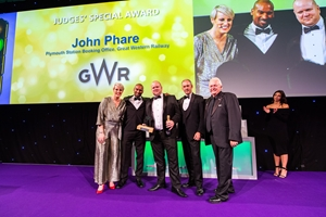 GWR's John Phare at the National Rail Awards