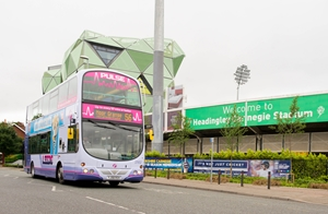 Yorkshire cricket First Bus