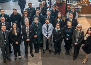 Apprentices take over railway station