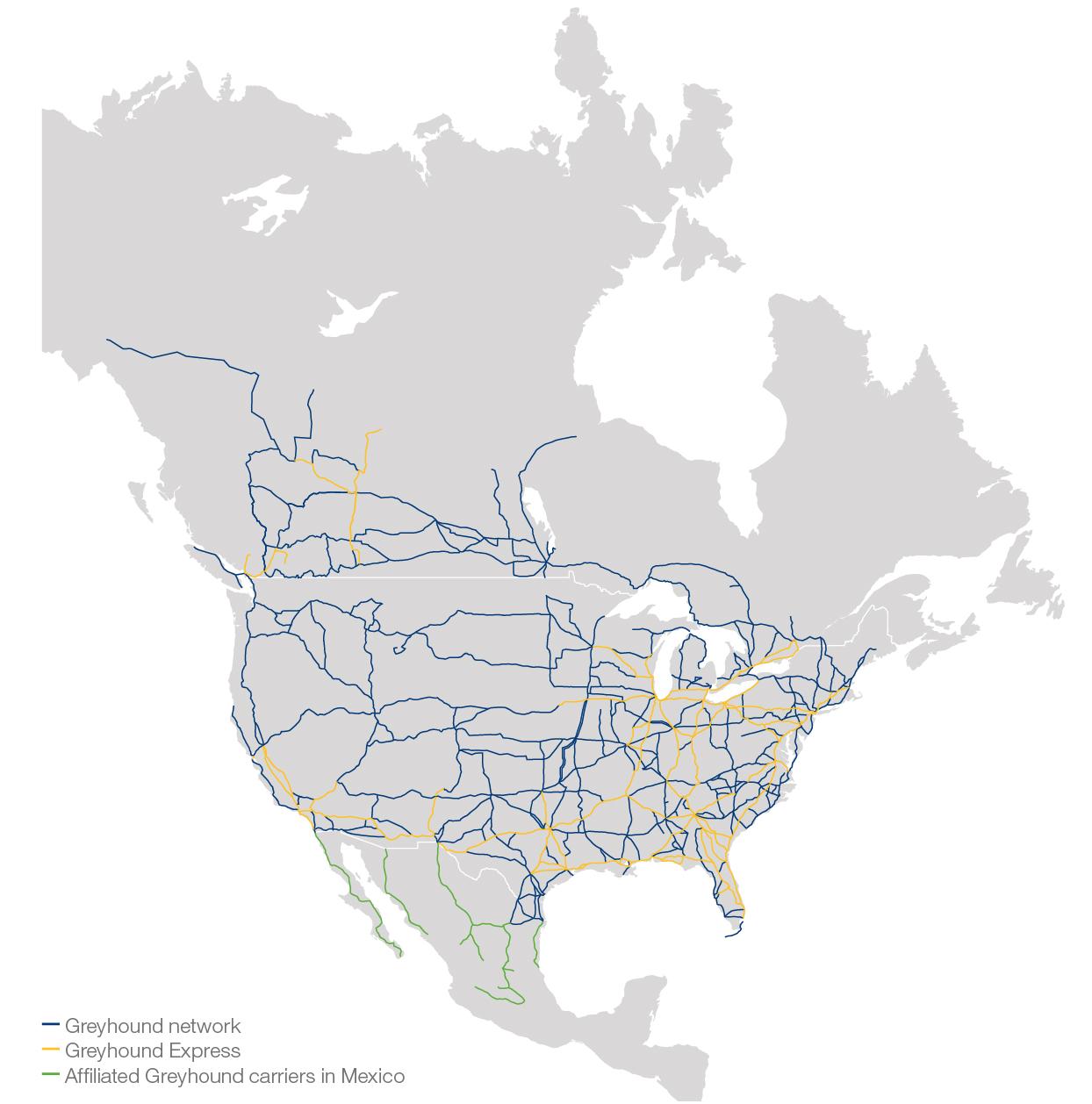 Greyhound Map | Sustrainability