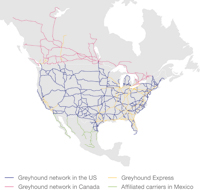 Greyhound network map