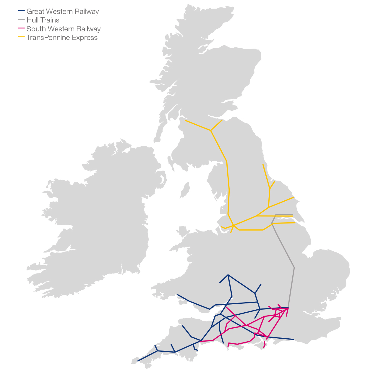 First Rail Network Map